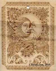Henna Tattoo Moon Face Plaque