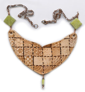 wood burned leather jewelry