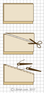 Cutting the leather pieces for your pyrography leather purse