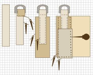 leather purse construction
