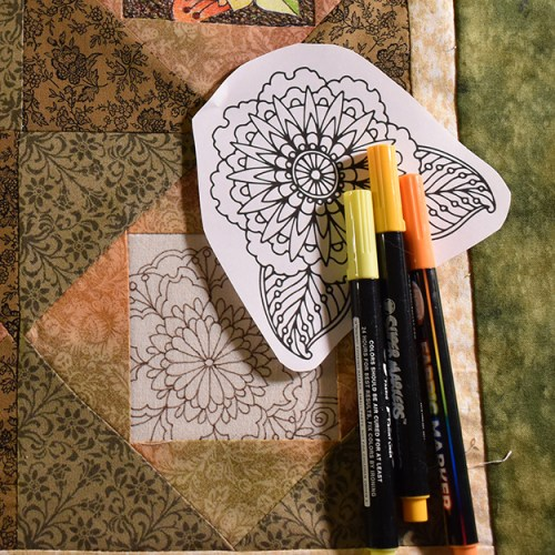 Coloring Book Quilt Ideas