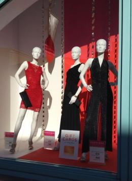 Size 10 mannequins in shop window