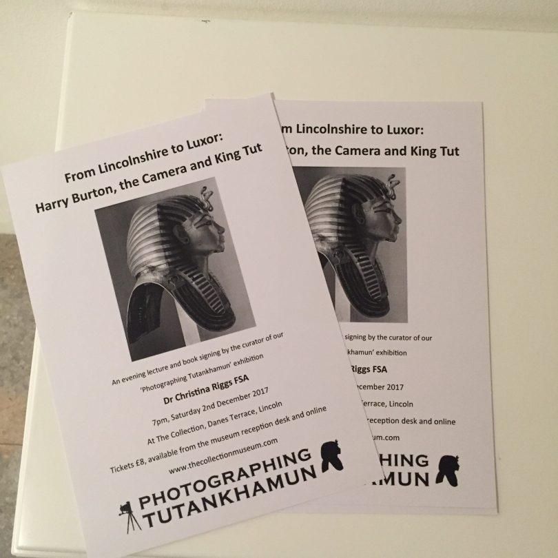 photographing Tutankhamun