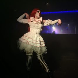 A truly haunting performance was given by this faux queen. She danced in a ballet style to songs by My Chemical Romance and Panic! At The Disco. Truly haunting.