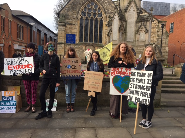 Youth climate change protesters in Lincoln