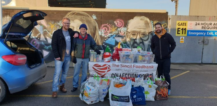 The Sincil Foodbank at a Lincoln City game in January. Photo: The Sincil Foodbank