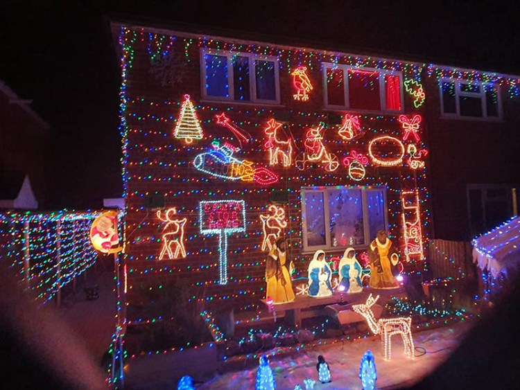 Lincoln residents have started their Christmas decorations early this year.
