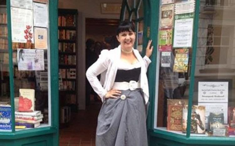 Sasha Drennen outside her shop.
