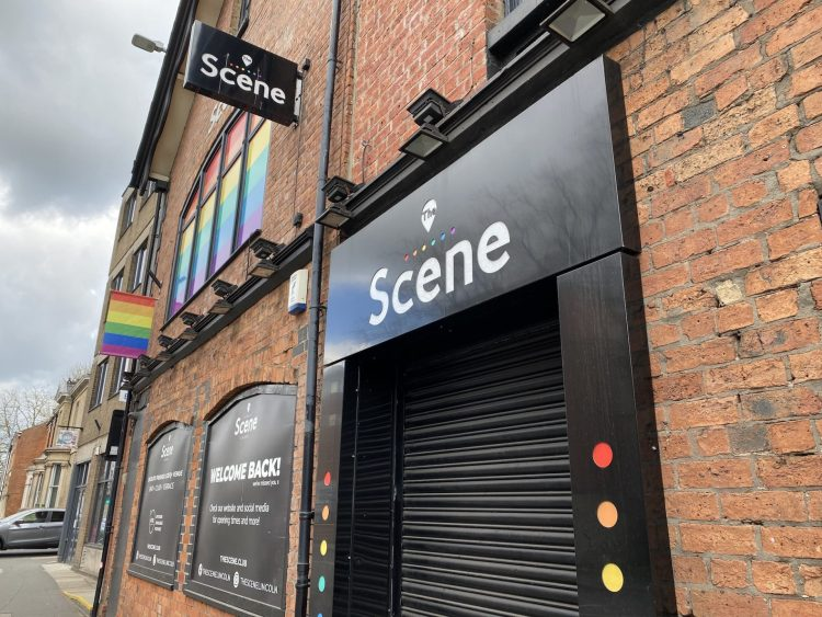 Outside of The Scene in Lincoln. The nightclub is closed due to COVID-19 and is preparing for it's reopening. Credit: Sophie Smith