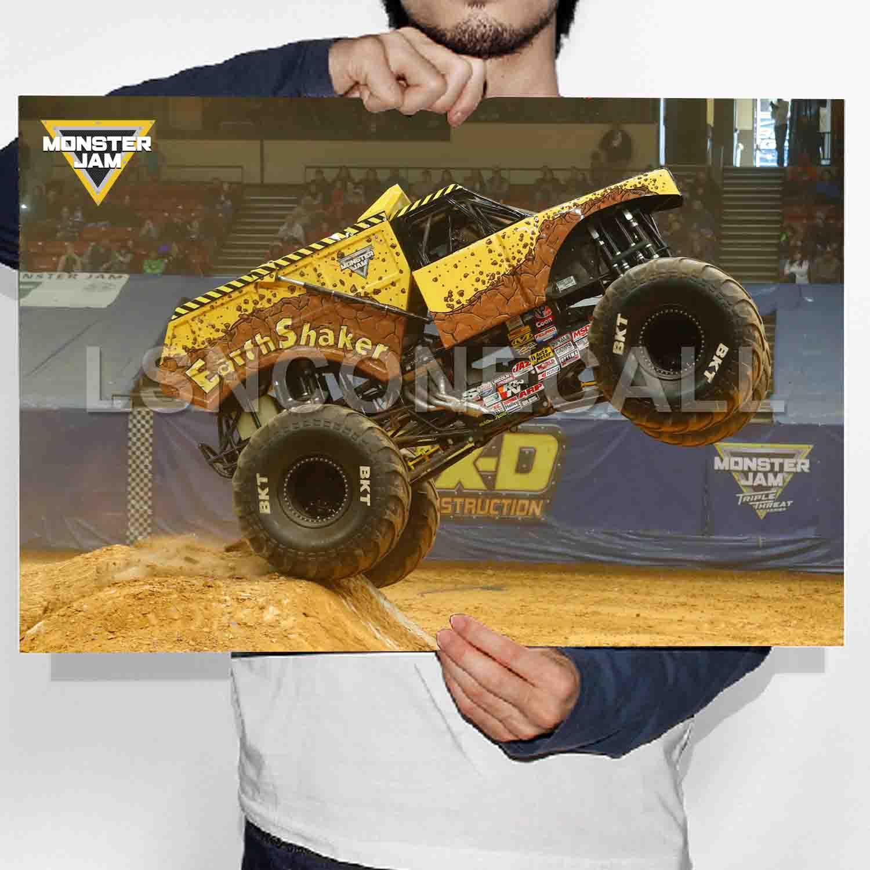 earthshaker monster trucks poster print