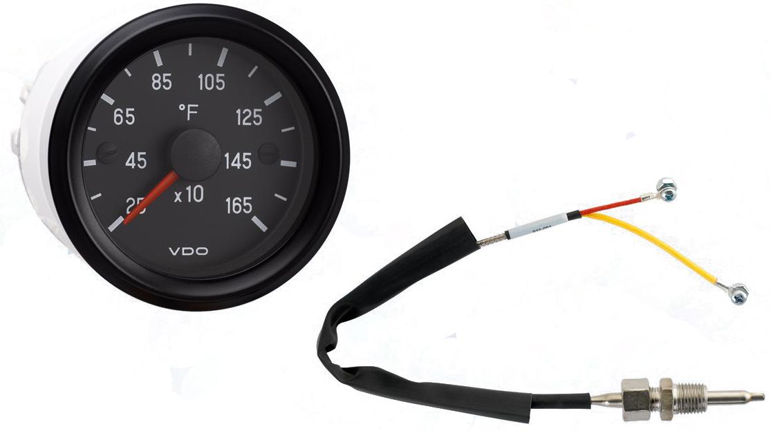cockpit international 1650�f pyrometer, 12v with sender and harness 310 953 lauderdale speedometer