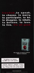 American Spirit LGBT Smoking Ad