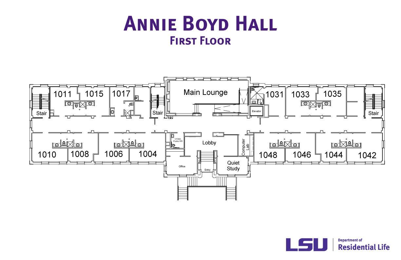 Annie Boyd Hall  LSU Residential Life