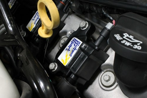 small resolution of performance distributors sos coils for ls engines and one of its ford replacement screamin demon coils both fit into the oem mounting locations and are