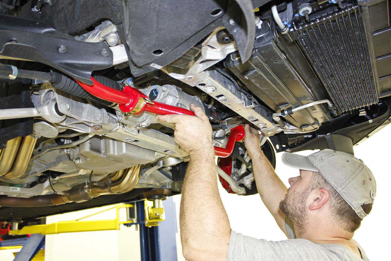 hight resolution of the new sway bar installs in place of the factory bar the 95 durometer polyurethane bushings on the bmr sway bar are greasable for quiet operation