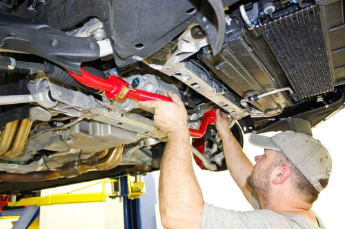 small resolution of the new sway bar installs in place of the factory bar the 95 durometer polyurethane bushings on the bmr sway bar are greasable for quiet operation