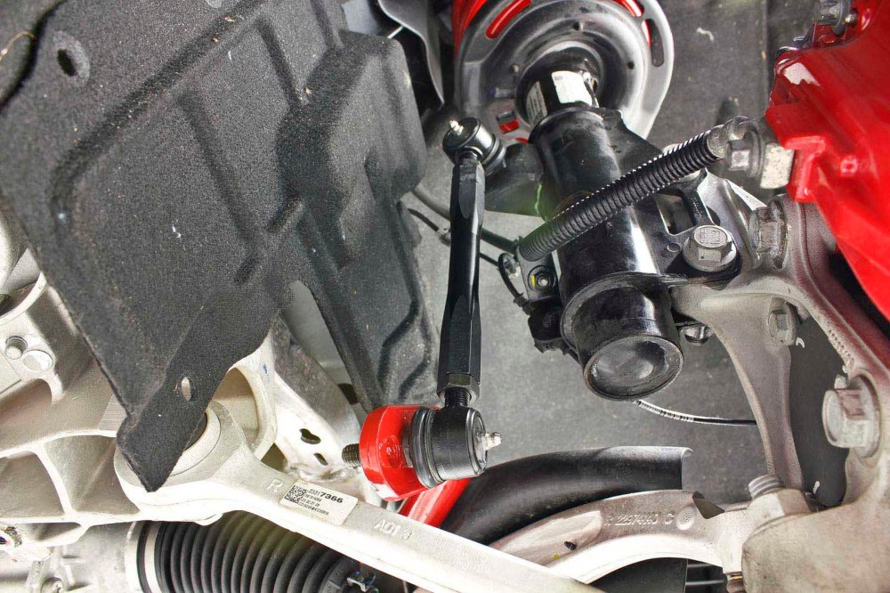 medium resolution of both the front and rear endlinks are adjusted to factory length prior to being installed once the installation is completed the endlinks can be adjusted