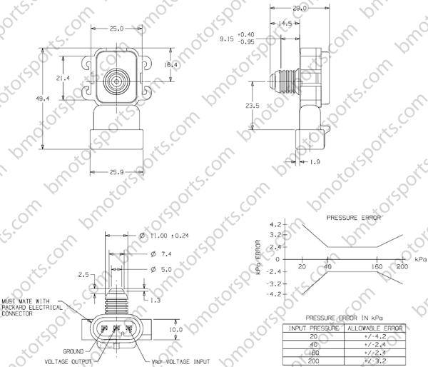 Home » Shop » GM / Delphi » 2 Bar Late Model GM Style Map
