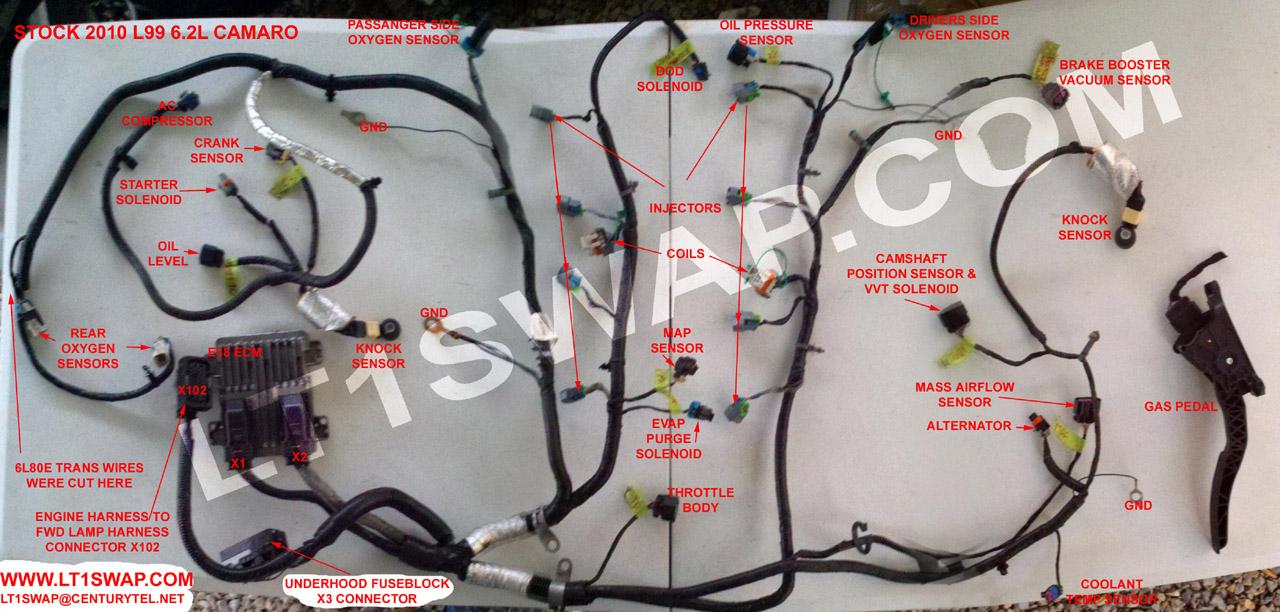 2011 camaro wiring harness