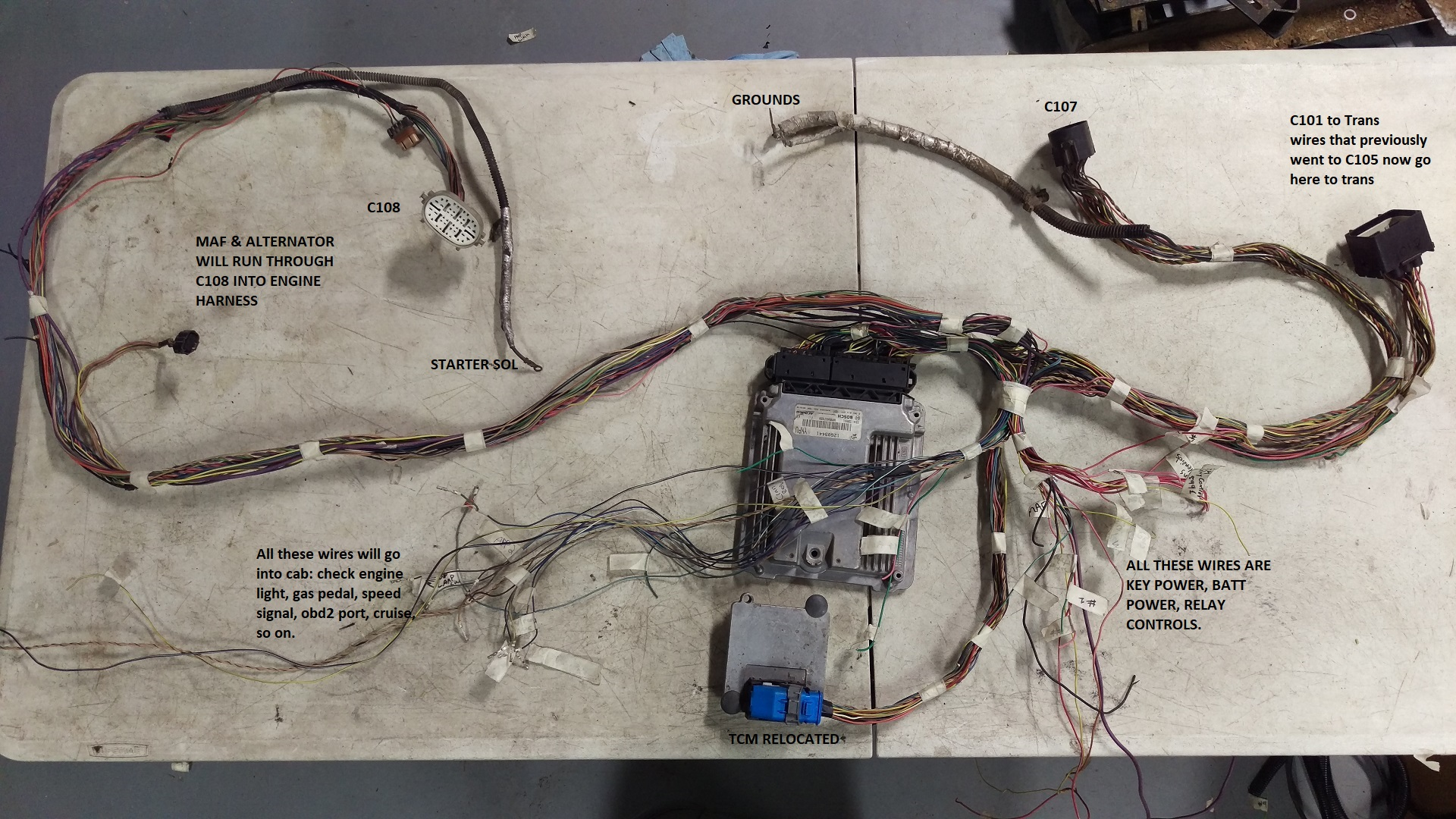 hight resolution of duramax pcm wiring harness wiring diagram centre 2008 6 6l lmm duramax 4l80e swap page duramax