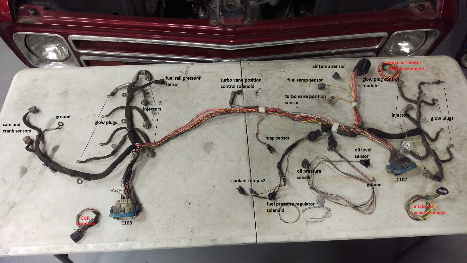 hight resolution of duramax engine new wiring harness wiring diagrams bib 6 6 duramax wire harness wiring diagram expert