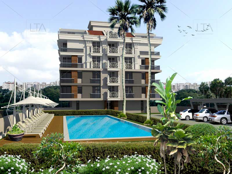 Comfortable and large apartmnets in Konyaalty Hurma #204