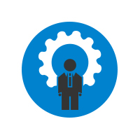 Vector Graphic Business Person With Gear