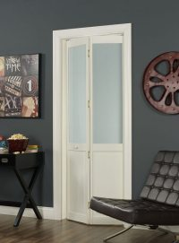 Frosted Glass Bifold (Half Glass) Door by LTL Home Products