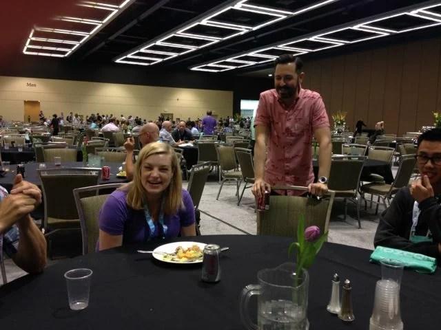 Sarah and Rand at MozCon 2014