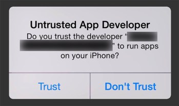 ios untrusted app developer