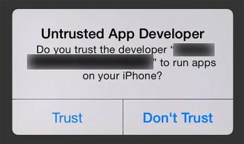 ios untrusted app developer