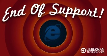Internet Explorer reaches the end of support