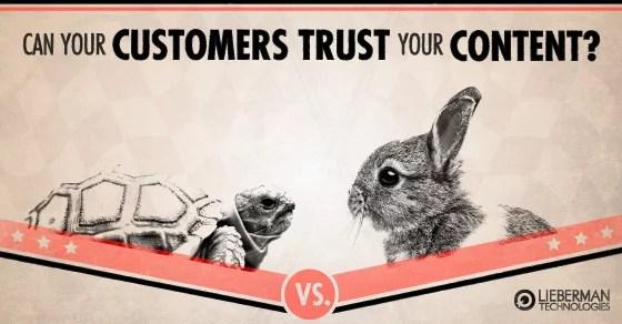 build customer trust through your website content