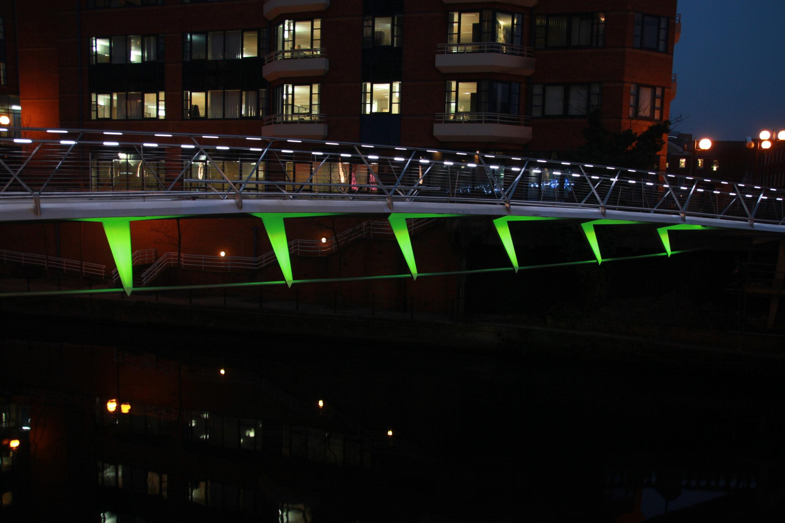 Irwell Footbridge Handrail Lighting - Architectural Lighting for Bridges & Walkways