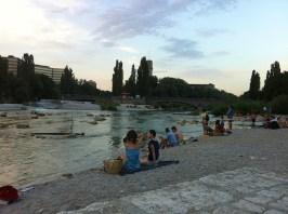 Isar zwischen Reichenbach- und Corneliusbrücke