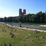 Isar Blick von der Reichenbachbrücke