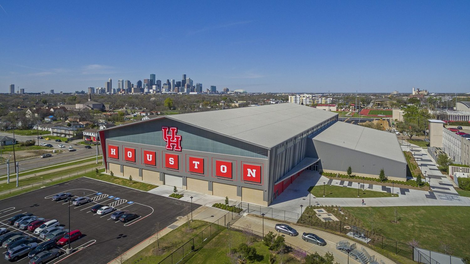 University of Houston Indoor Football Facility - Aerial view