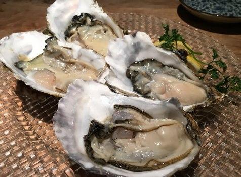 牡蠣好きのための牡蠣づくしコースを堪能。日本酒と合わせて楽しめます!@品川牡蠣入レ時