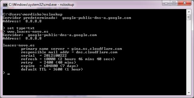 Mi configuración DNS