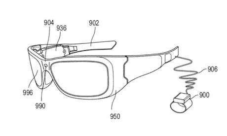 Imagen de la patente de las gafas AR de microsoft