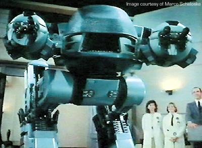 El ED-209, uno de los muchos robots asesinos del cine