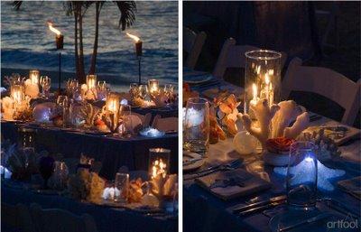 decoracao-com-velas-para-casamento-na-praia-1