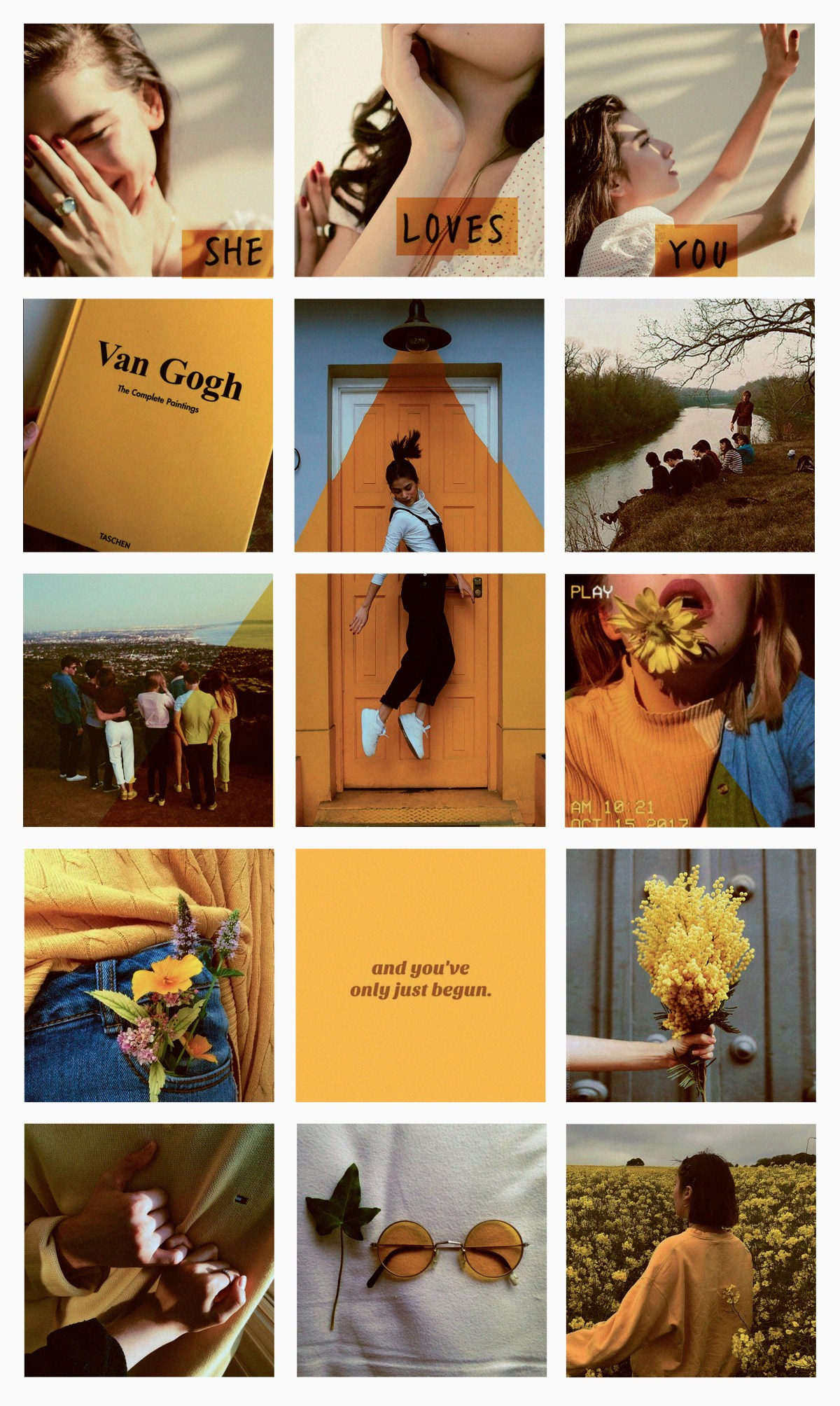 Yellow instagram feed aesthetic design style amarelo