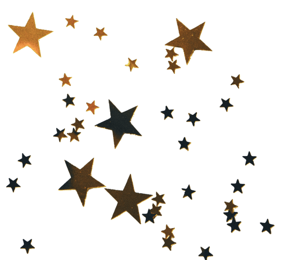 tumblr collage christmas gold stars clear background sticker