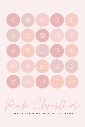 pink-christmas-instagram-highlight-covers