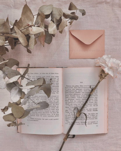 8-Aesthetic-image-book-and-white-flower
