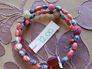 Essential Oil Memory Wire Bracelet with Lava Beads