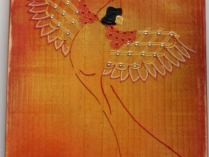 Cardinal Wood Plaque for Sale