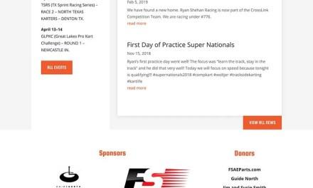 Website Build for Ryan Shehan Racing