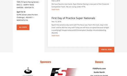 Website Build for Ryan Shehan Racing